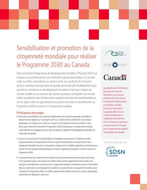 © British Columbia Council for International Cooperation (BCCIC) & Conseil canadien pour la coopération internationale (CCCI) (Canada) 2019