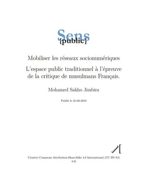 © Mohamed Sakho Jimbira, Sens public 2019