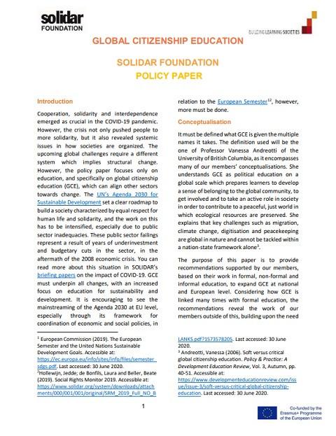 © Solidar Foundation 2020