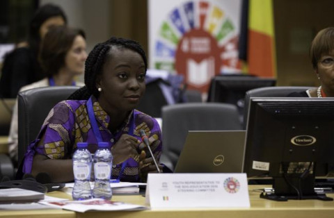 Victoria Ibiwoye, Youth representative of the SDG-Education 2030 Steering Committee is co-organising the thematic session on education (SDG4) at the ECOSOC Youth Forum.